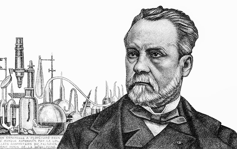 Image of Pasteur at his laboratory