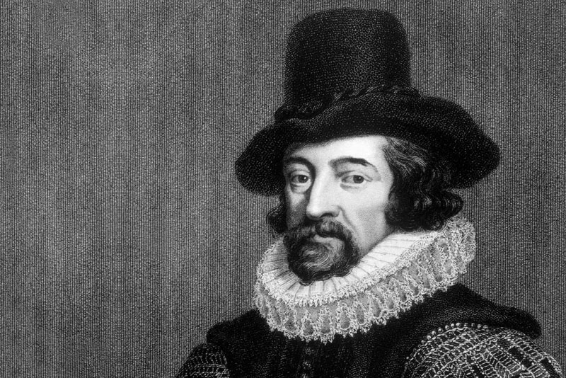 Engraving by Francis Bacon